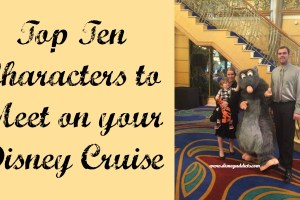 Top Ten Characters to Meet on your Disney Cruise 4