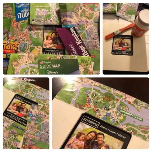 Disney DIY - Theme Park Map Picture Frames 2
