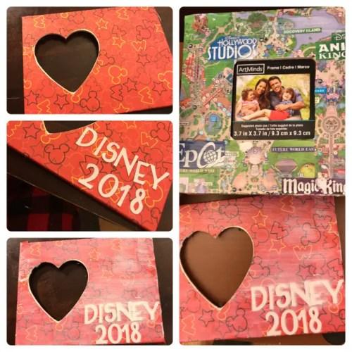 Disney DIY - Theme Park Map Picture Frames 4