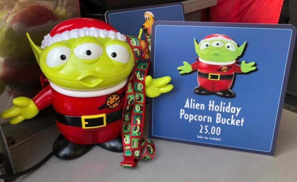 New Christmas Popcorn Buckets and More Have Popped up at Walt Disney World