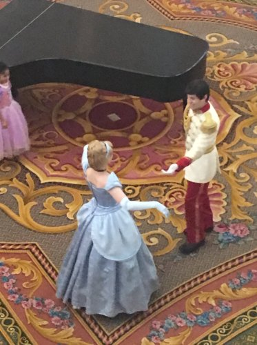 Cinderella and Prince Charming waltz