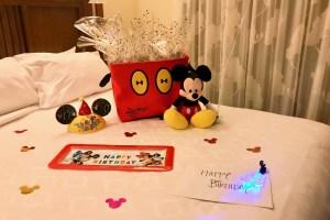 In room celebration gift basket
