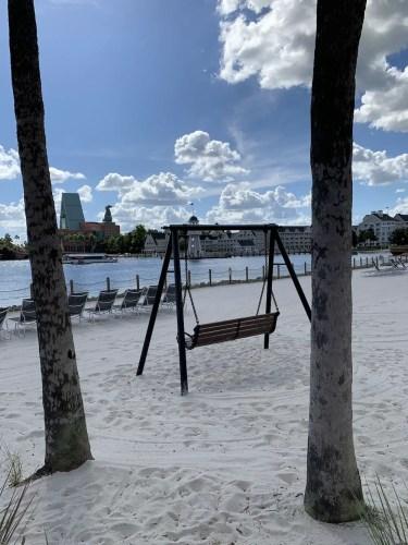 Bench on Beach at Beach Club Resort