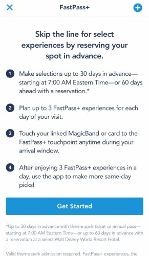My Disney Experience Pastpass set up