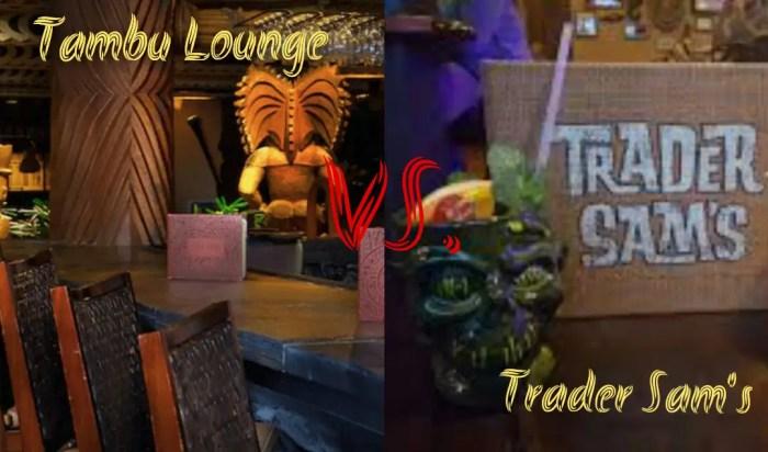 Tambu Lounge vs Trader Sam's