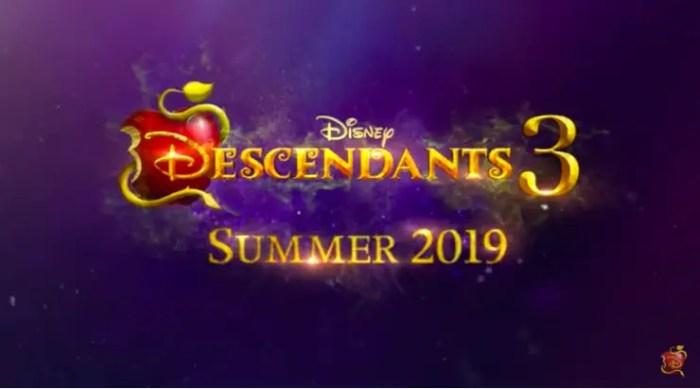 Descendants 3 on the Disney Channel Summer 2019