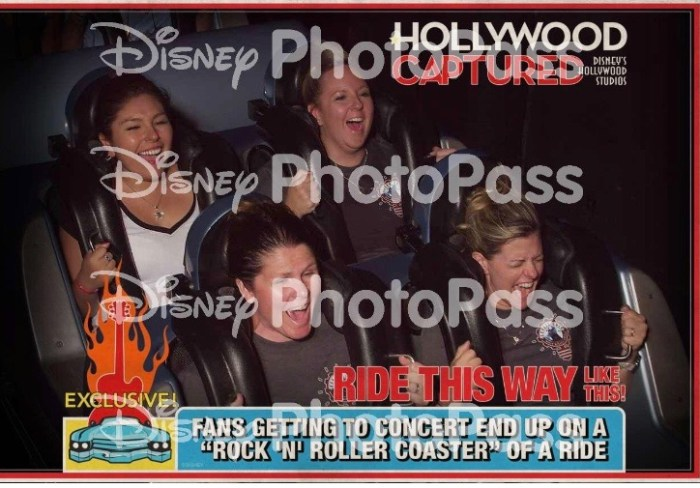 PhotoPass photo on Rock and Roller Coaster