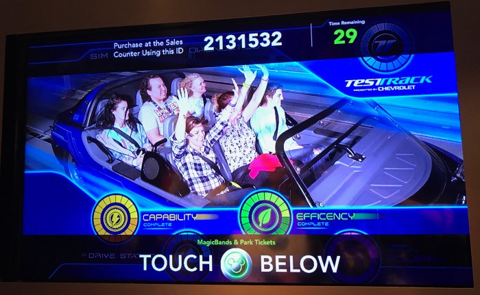 PhotoPass photo on Test Track