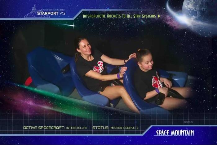 PhotoPass photo on Space Mountain