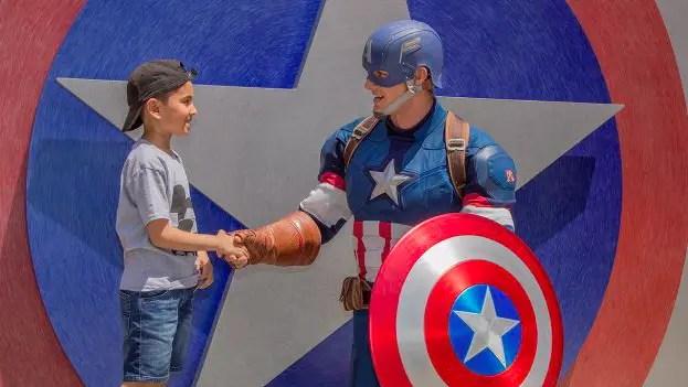 Captain America in Disney's California Adventure