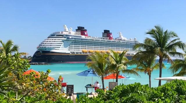 Disney Cruise ship in Castaway Cay