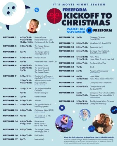 Everything Coming to Freeform's Kickoff to Christmas 2