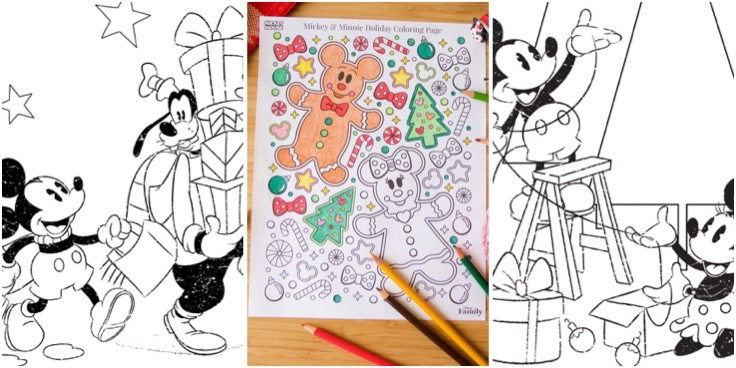 Disney Christmas Coloring Pages Bring The Holiday Fun!