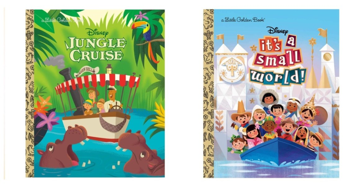 Disney Attraction Themed Little Golden Books are coming soon