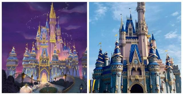 The Magical Makeovers of Magic Kingdom's Cinderella Castle 5