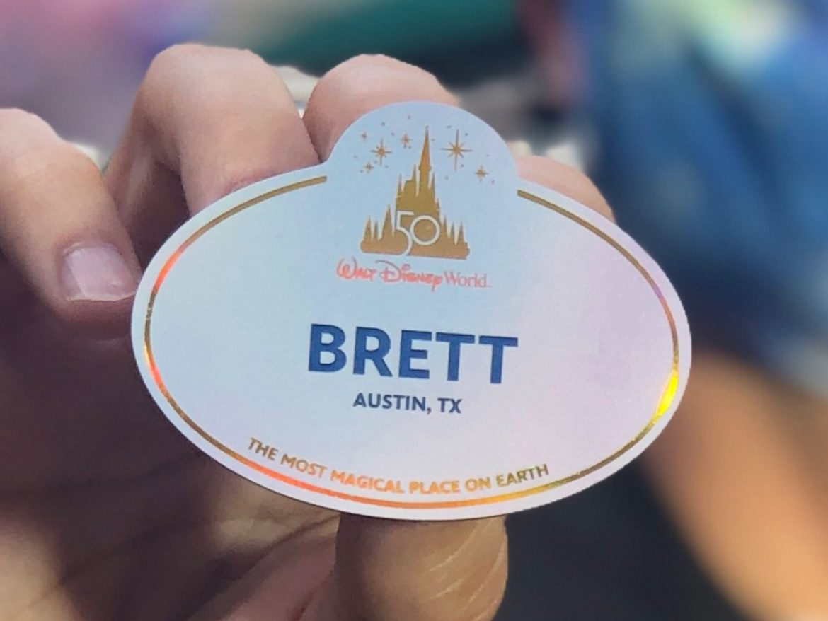 New Cast Member Nametag In Honor Of Disney World 50th Anniversary!