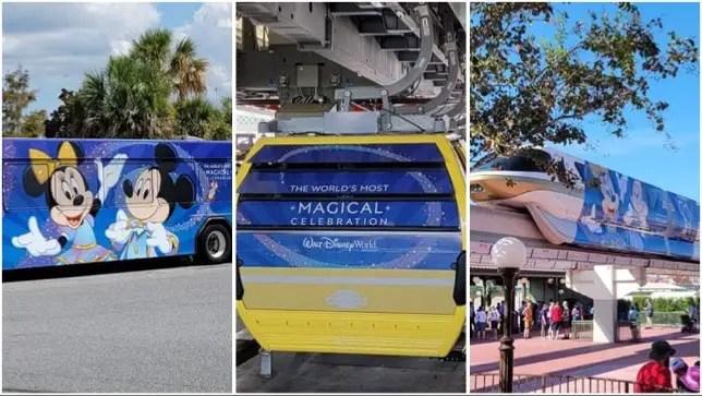 Disney World Transportation Receives Beautiful 50th Anniversary Makeovers!