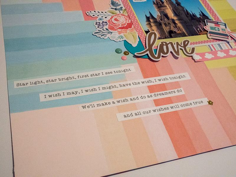 Disney Scrapbook Layout Beth Hannah