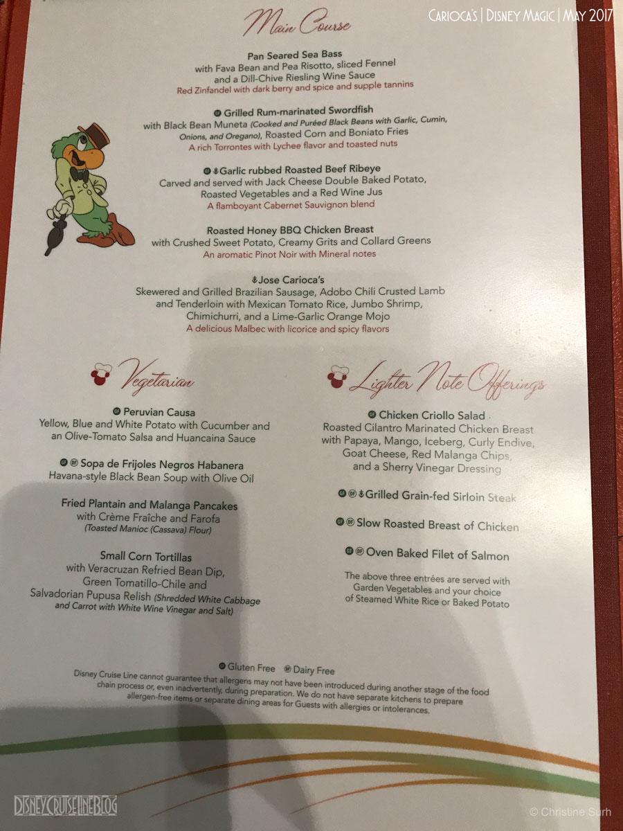 Disney Dining Restaurant Menus