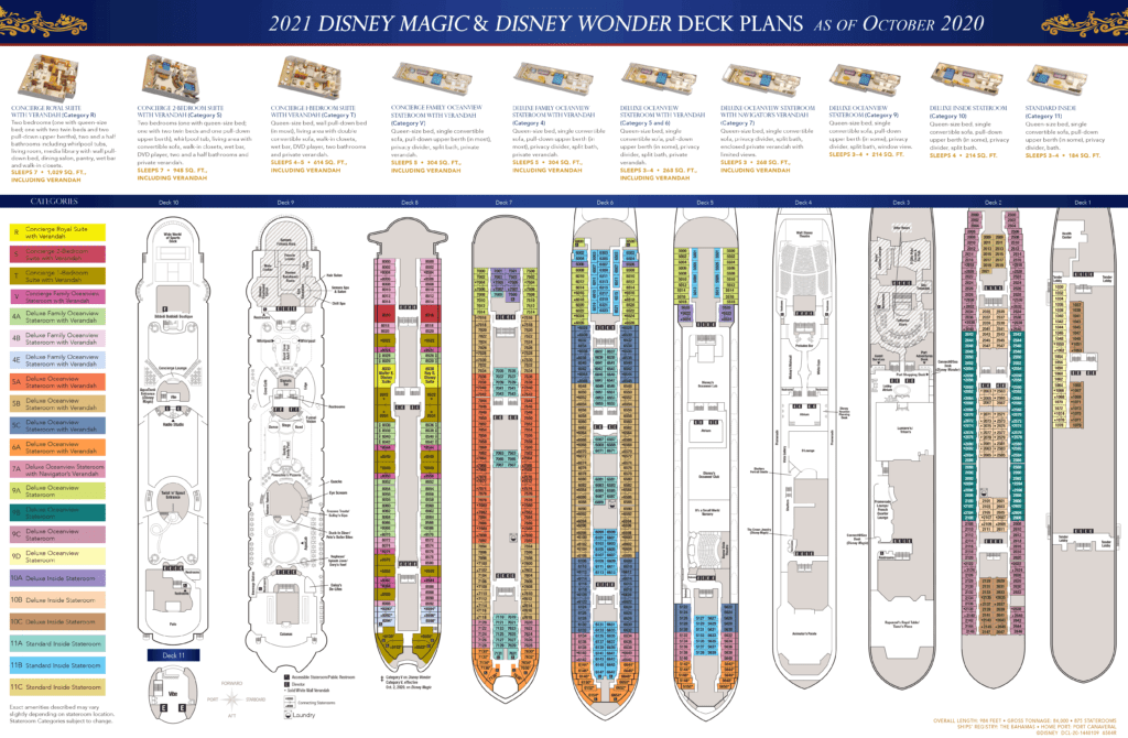 DCL Deck Plans Magic Wonder 2021