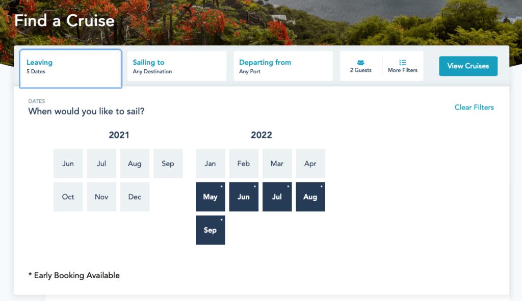 DCL Summer 2022 Online Booking Platinum 20210322