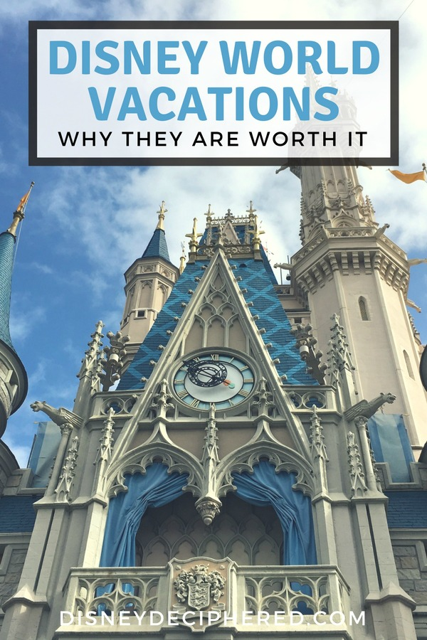 Wondering if a vacation to Walt Disney World is worth it for your family? Breaking down the benefits and advantages of a Disney vacation in Orlando, with insider tips to make it easier! #disney #disneyworld #waltdisneyworld #disneydeciphered