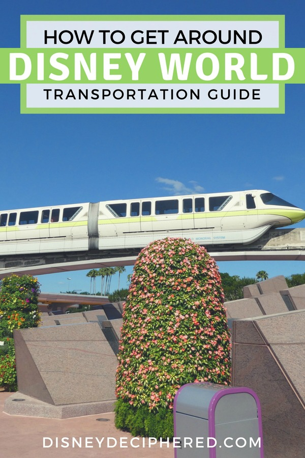 From monorails to Minnie Vans, don't miss this guide to Disney World transportation and transit. Tips on how to navigate the Disney parks and beyond. #disney #disneyworld #waltdisneyworld #disneysmmc #disneydeciphered