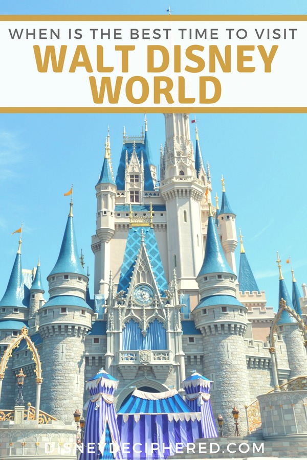 Wondering when is the best time to visit Walt Disney World? A guide to the best days and a few secrets to avoid the crowds. #disney #disneyworld #waltdisneyworld #disneysmmc #disneydeciphered