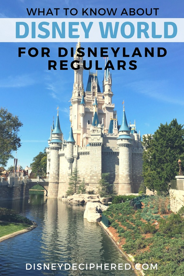 Are you a Disneyland fan heading to Walt Disney World for the first time? Check out this guide to Disney World in Orlando, designed specifically for Disneylanders. Tips for handling the details of the differences between the two resorts, from distances to hotels to park touring strategies. #disney #disneyworld #disneyland #disneysmmc #disneydeciphered