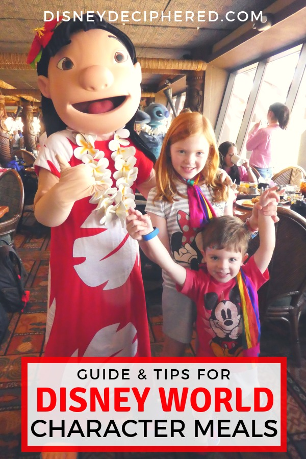Dining at a character meal at Disney World? Tips for making the most of character dining experiences and whether they are worth the cost. Plus, 3 must-do restaurants and 3 to avoid (find out which list 'Ohana is on!). #disneydeciphered #disney #disneyworld #charactermeal #characterdining #characterbreakfast
