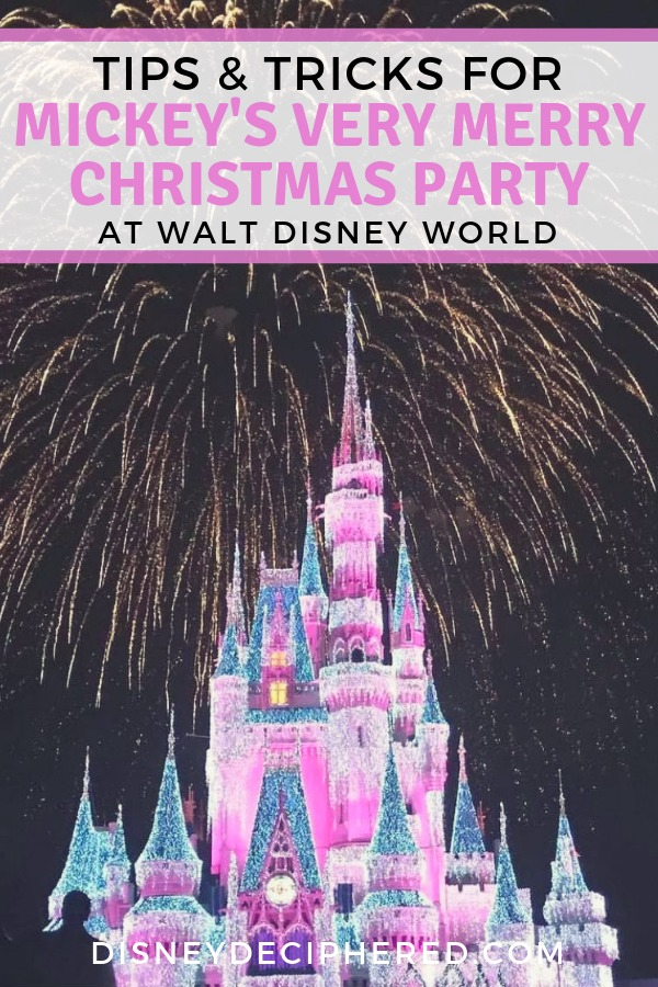 Visiting Mickey's Very Merry Christmas Party at Walt Disney World this winter holiday season? Get top tips and tricks for the best viewing areas for the Once Upon a Christmastime Parade and Holiday Wishes fireworks. Plus, strategies for avoiding the long party lines and seeing all the special characters. #MVMCP #Disney #DisneyWorld #DisneyHolidays