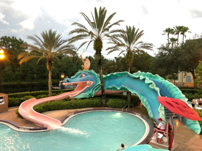 Port Orleans French Quarter and Riverside Resort Review and Tips - French Quarter Slide Pool