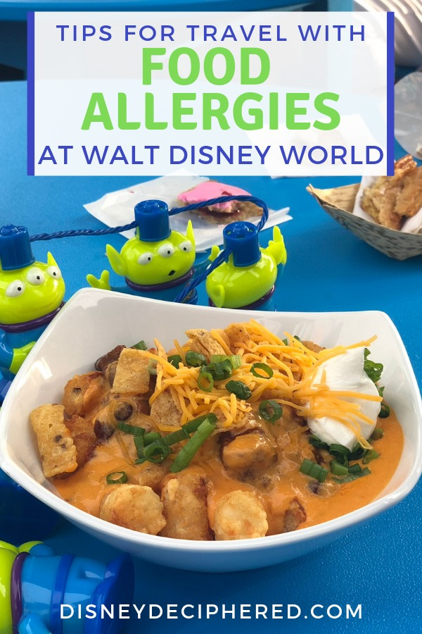 Visiting Disney World with food allergies or other dietary sensitivities? Find out how table service and quick service restaurants handle special dining needs. Plus tips for potential pitfalls! #disneyworld #disney #foodallergy #disneydeciphered