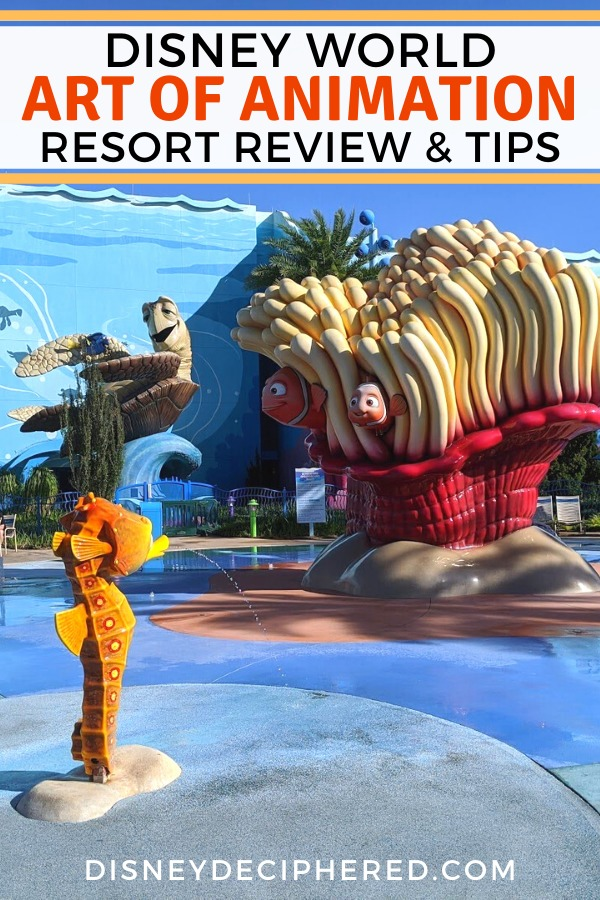 Is Disney's Art of Animation Resort right for you? A deep dive review, with a look at the hotel's rooms (including the family suites), Skyliner access and other transportation, the pool, theming, and more. #disneyworld #disney #artofanimation