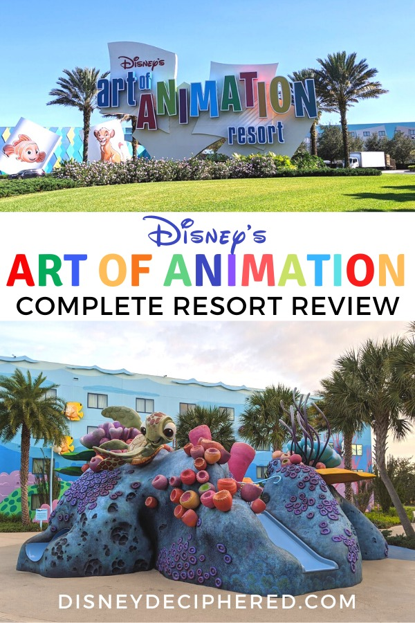 Disney's Art of Animation is a popular resort choice for families. Get tips and advice on whether this hotel is right for your Disney vacation, with a peek at the rooms (including the family suites!), a look at Skyliner access, and more in this review. #disneyworld #disney #artofanimation