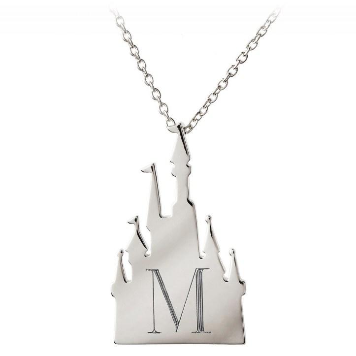 Disney castle necklace Rebecca Hook personalize