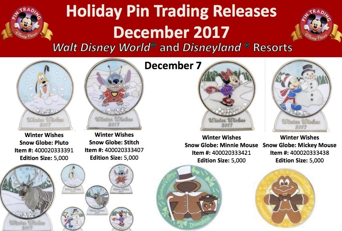 Holiday pins to be released at Disneyland, Disney World are ...
