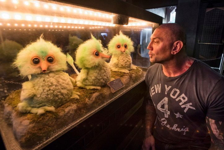Dave Bautista of Guardians of the Galaxy visits Disneyland