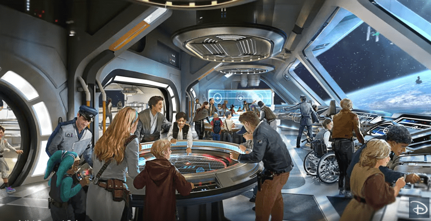 Here is concept art of the new Star Wars hotel to be built at Hollywood Studios in Disney World.