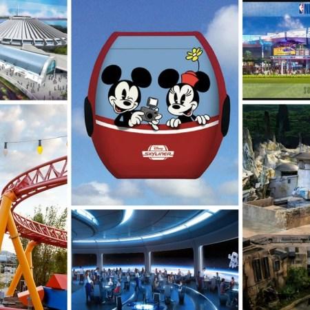 Major projets at Disney World until 2021.