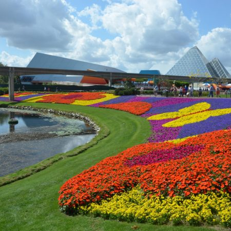 These are the major blooms place around Epcot during the 2018 Epcot International Flower and Garden Festival.