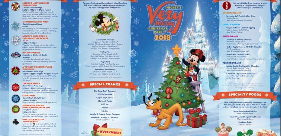 Mickeys Very Merry Christmas Party 2019.2018 Mickey S Very Merry Christmas Party Map And Guide Now