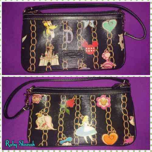 DLP Black Charms Wristlet