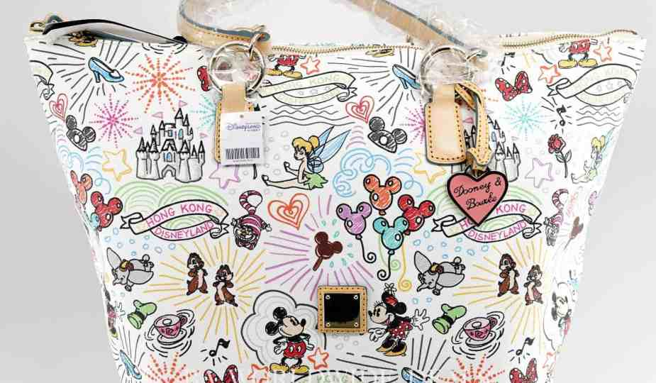 Hong Kong Disneyland Sketch Large Tote