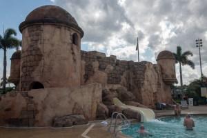 disney pool slide, Caribbean Beach pool, How to Chose a Disney Resort