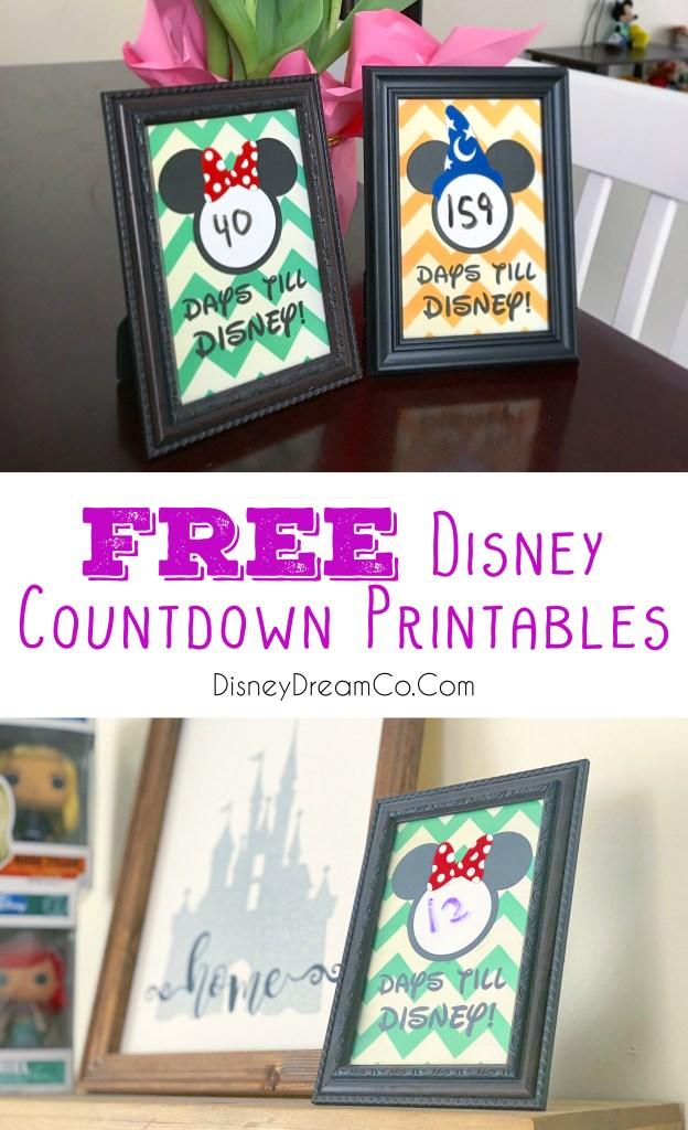 Free Disney Countdown Printables