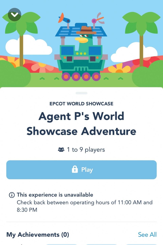 agent p, disney play app