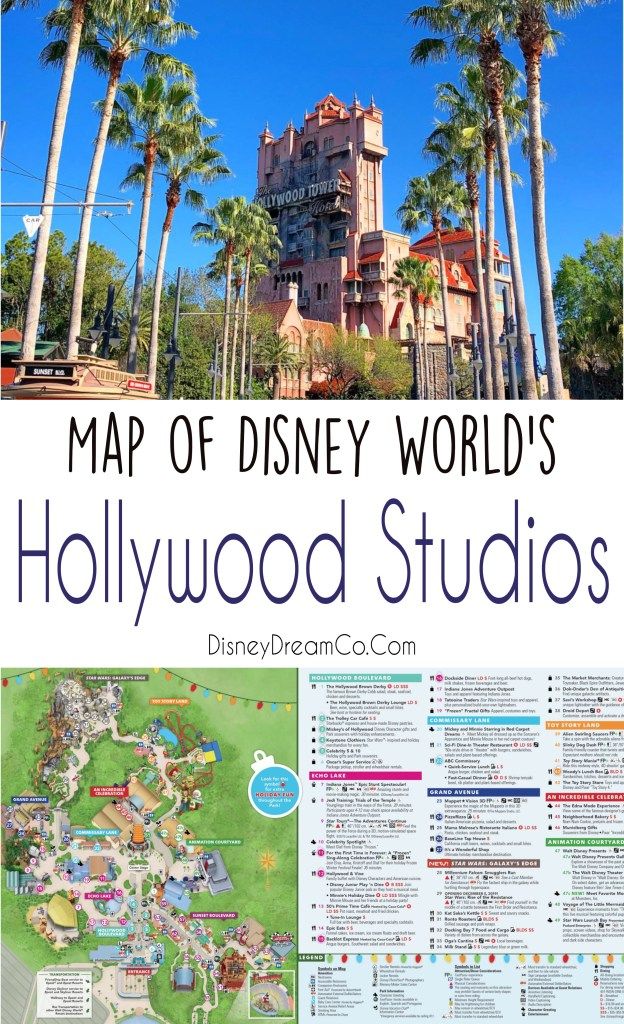 Hollywood Studios Map Walt Disney World