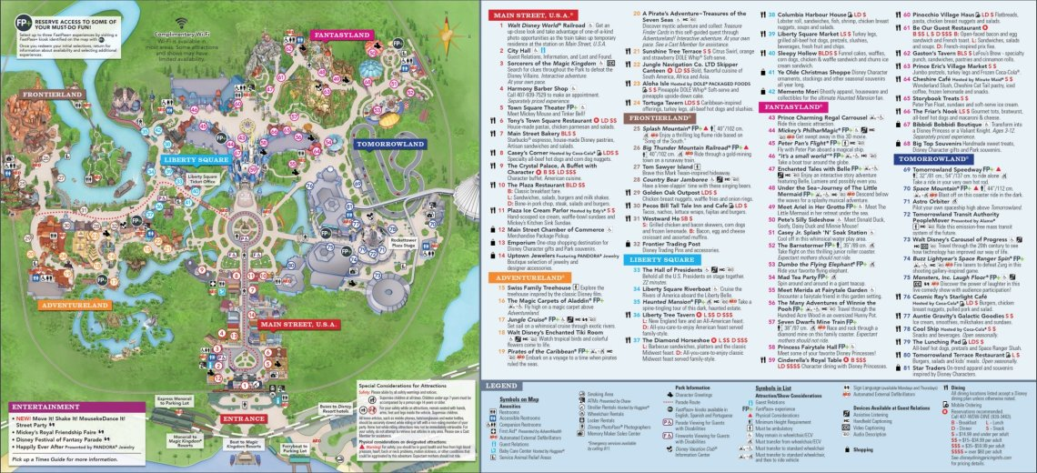 Magic Kingdom Map Walt Disney World