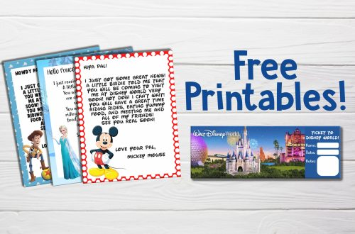 "Free ""You're Going to Disney World!"" Printable Character Letters and Tickets"